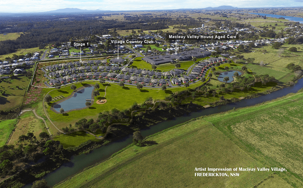 Overview Of Macleay Valley Village Stage 1 Artist Impression
