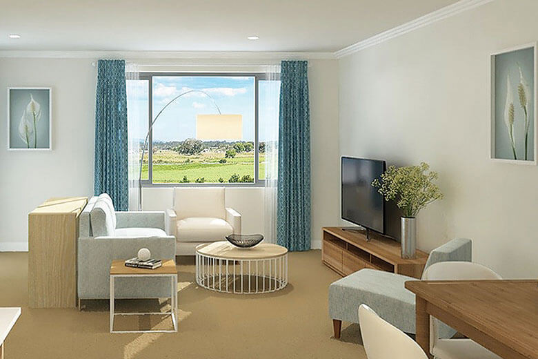 Living Area From Courtyard Villa Macleay Valley 2
