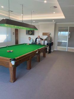 Residents enjoying the club house at Macleay Valley Village
