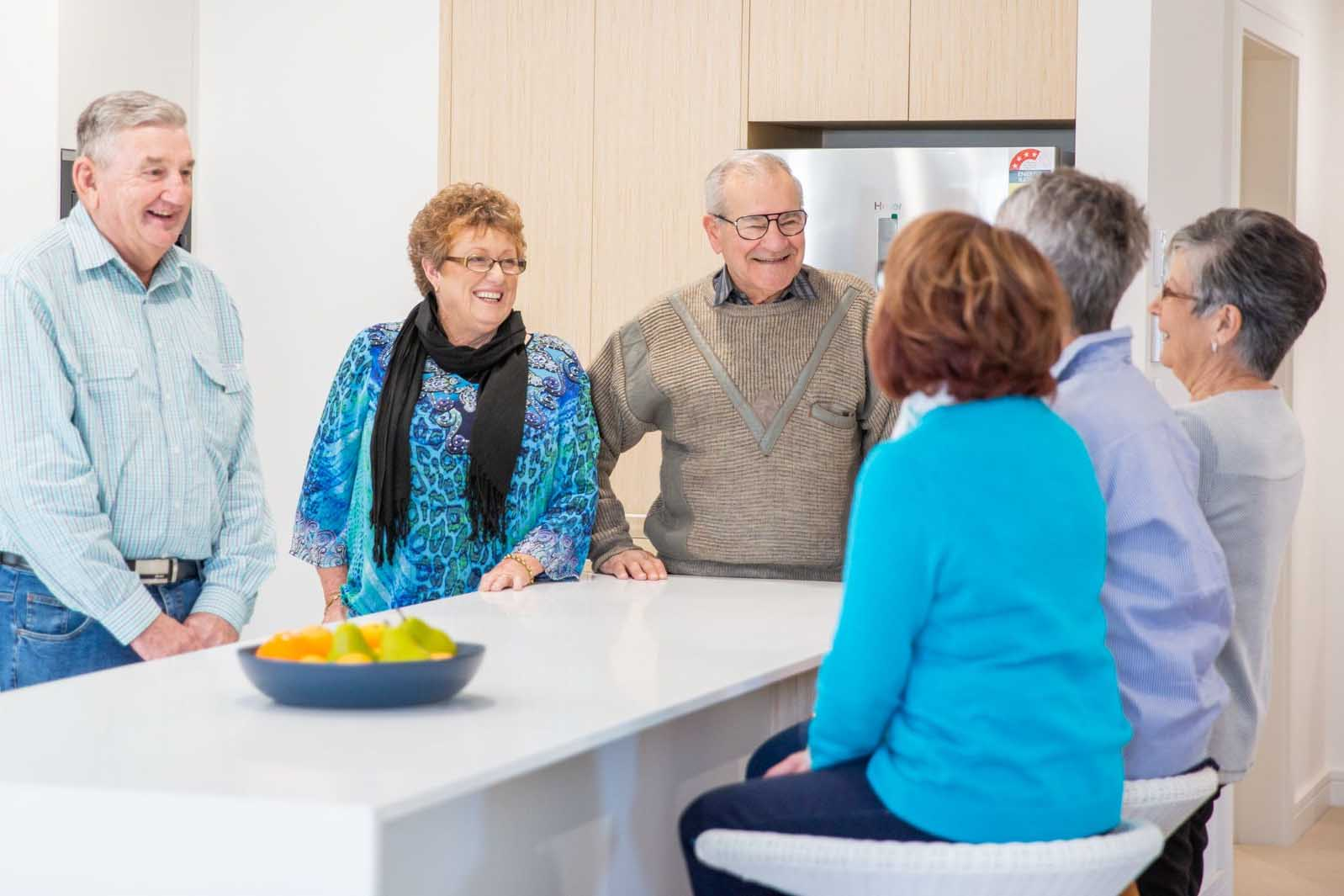 Happy Residents Talking